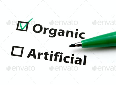 Option for organic or artificial