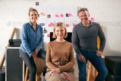 Portrait Of Team Running Creative Business In Studio Together