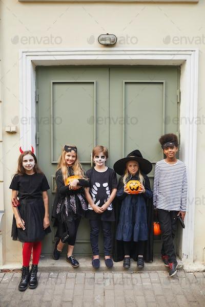 Portrait of Kids on Halloween