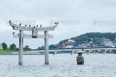 Stone torii in Fukuoka city