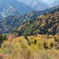 Mountain range in Tateyama