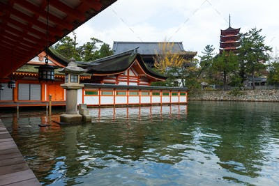 Itsukushima Shinto Shrine in Japan