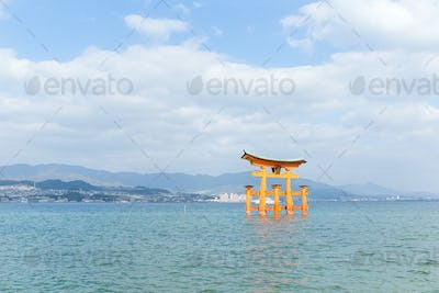 Floating gate of Itsukushima Shrine in Hiroshima
