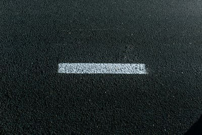 Asphalt Texture. New   with white dashed line