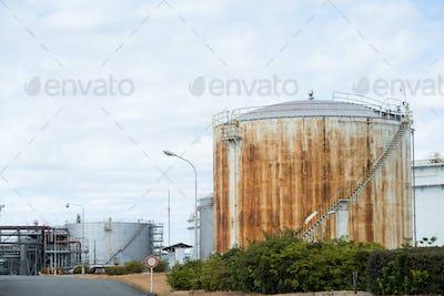 Oil tank in factory