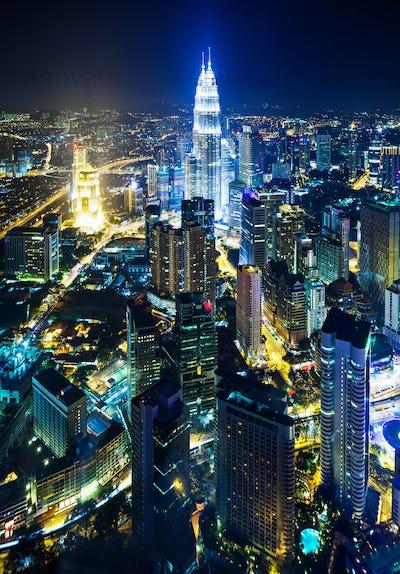 Cityscape in Kuala Lumpur