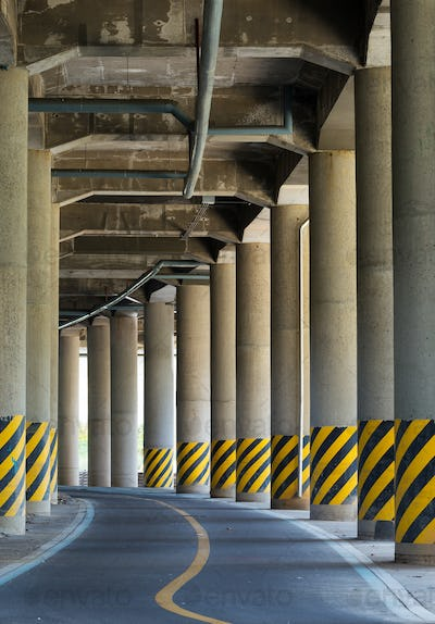 The view under the viaduct