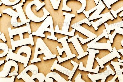 Random wooden letter