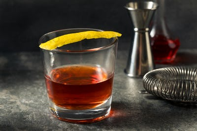 Boozy Refreshing New Orleans Sazerac Cocktail