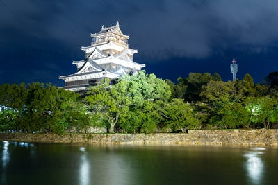 Hiroshima castle in Japanese city