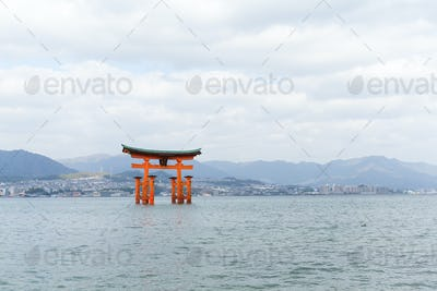 Floating torii gate in Itsukushima