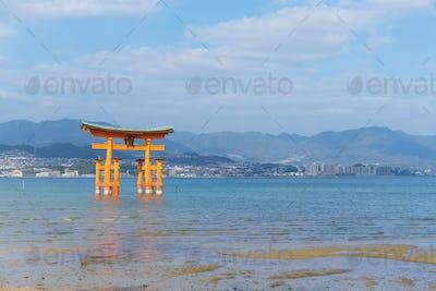 Torii in Itsukushima shine of Hiroshima Bay
