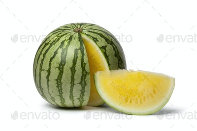 Seedless yellow watermelon