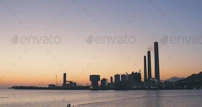 Power station in Lamma island at Hong Kong city