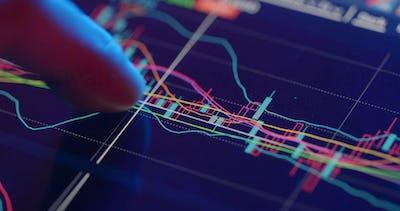 Using digital tablet for stock market analysis
