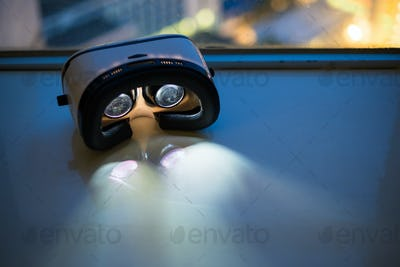 VR device light up at night