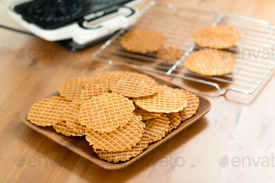 Traditional Italian pizzelle holiday cookies