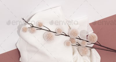 Stylish autumn winter flat lay