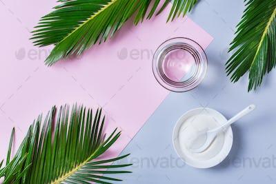 Collagen powder, skincare healthcare anti-aging beauty concept