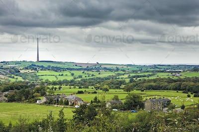 Emley Moor TV Transmitter, Yorkshire, England