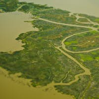 Aerial View of a Flood Plain