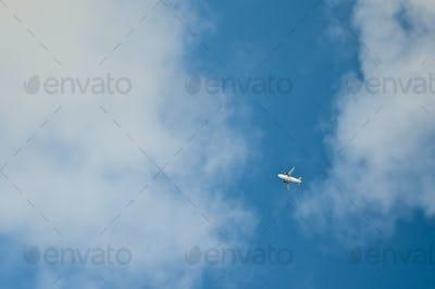Jet Airplane in Flight