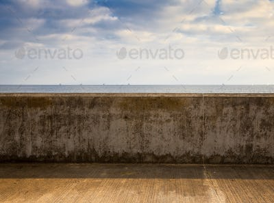 Wall Overlooking the Beach