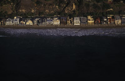 Beach Homes on California Coast Near Malibu