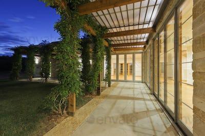 Outdoor Walkway on a Modern Home