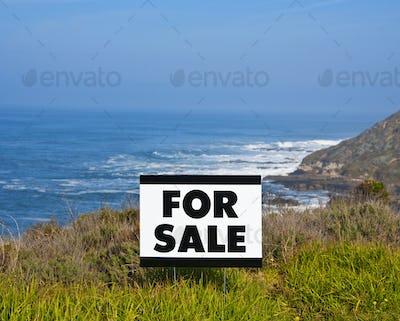 For Sale Sign Near Beach