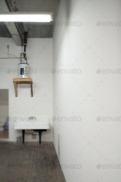 Sink in Warehouse Washroom