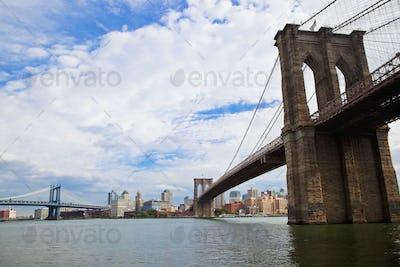 Two Bridges Leading to New York