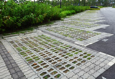 outdoor car park