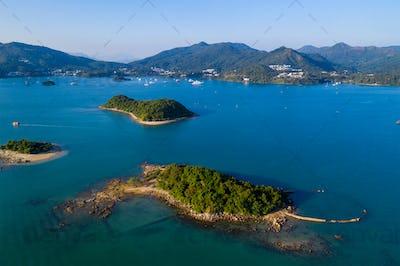 Sai Kung Ninepin Group island in Hong Kong