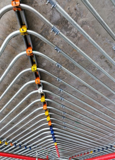 pipes on wall