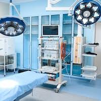 Professional surgery, operating room interior