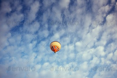 colorful balloon on the blue sky.