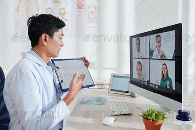 Online conference of doctors
