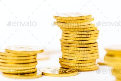 Money gold coins