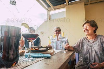 Group of senior people enjoy elderly lifestyle