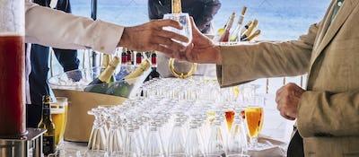 Cocktail event drinks exchange