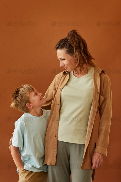 Mother and Son in Studio