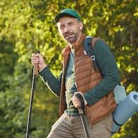 Bearded Mature Man Hiking
