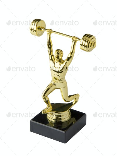 Weightlifting trophy