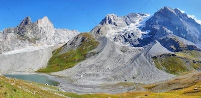 Grande Casse peak in Vanoise national park of french alps, France