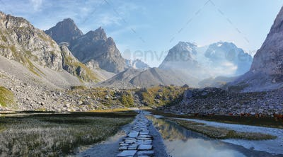 Lac Des Vaches, Vanoise national park in french alps, France