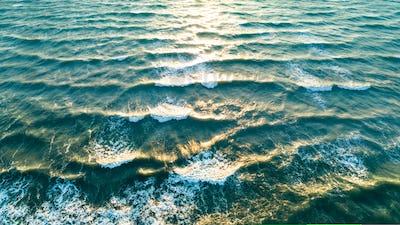 Sea waves on the beautiful morning sea