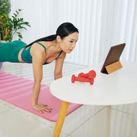 Fit ball plank exercise