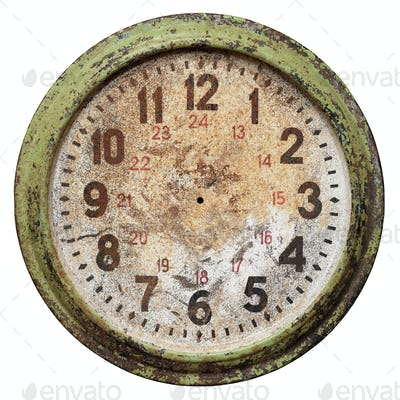 Old clock face without hands