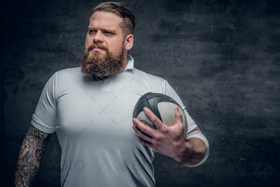 Bearded rugby player.